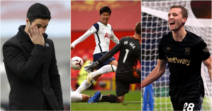 Mikel Arteta Heung-Min Son Tomas Soucek Big Weekend
