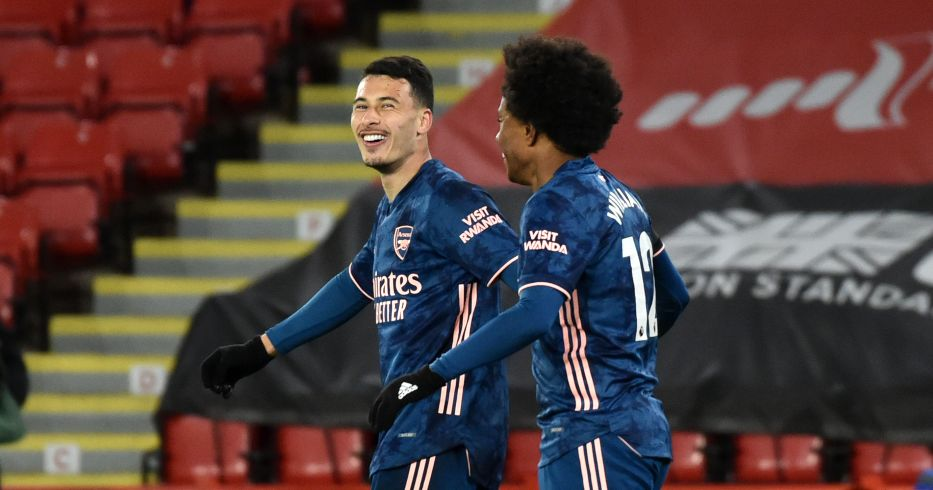 Gabriel Martinelli celebrates his Arsenal goal