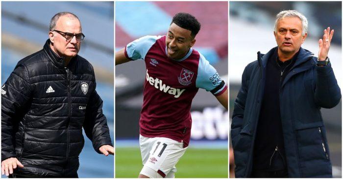 Marcelo Bielsa, Jesse Lingard and Jose Mourinho