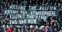Crystal Palace fans protest VAR