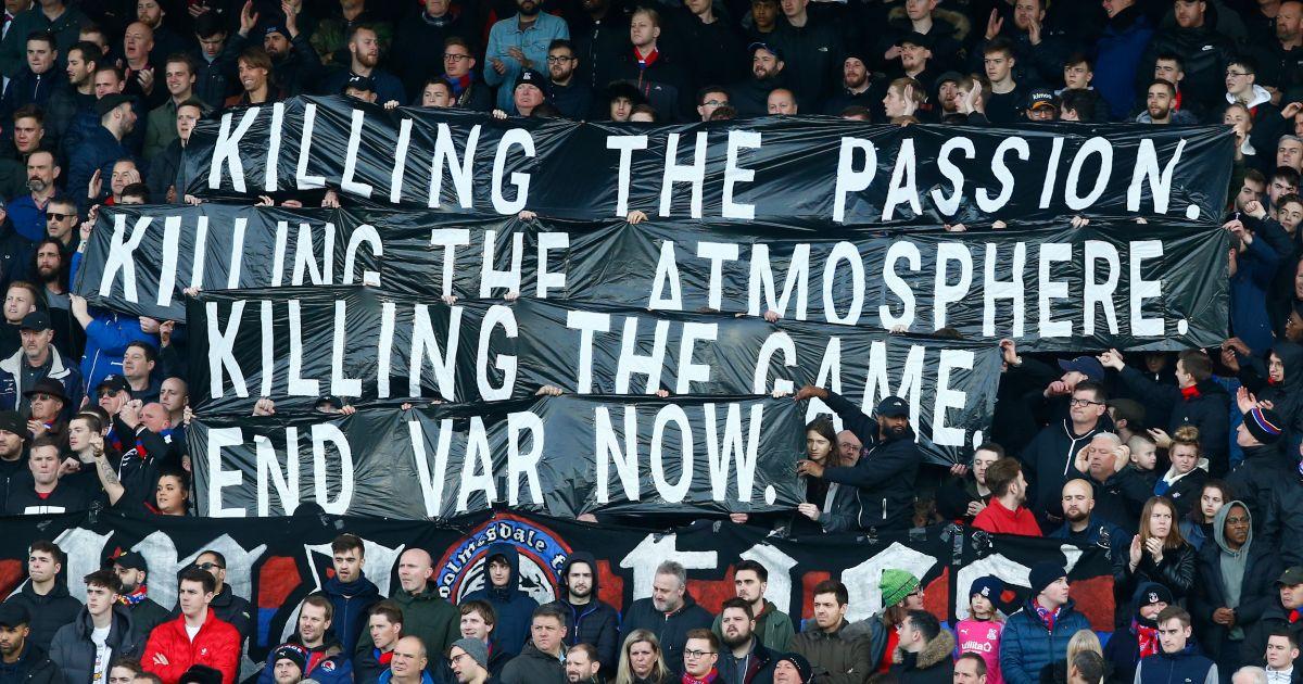 Crystal Palace fans protest VAR