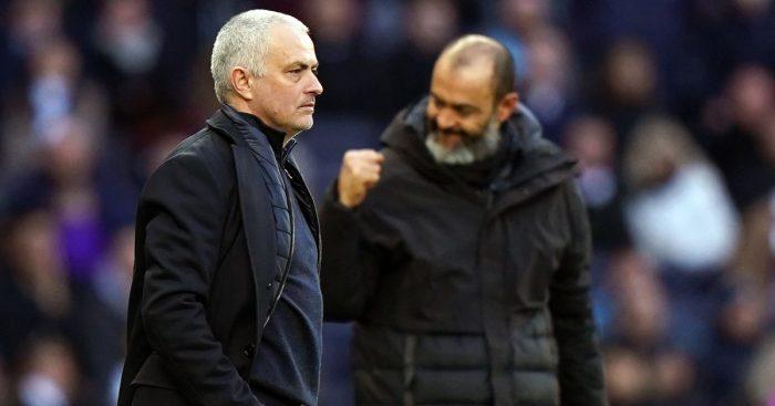 Jose Mourinho Tottenham Nuno Espirito Santo Wolves