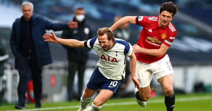 Harry Kane Spurs Harry Maguire Man Utd