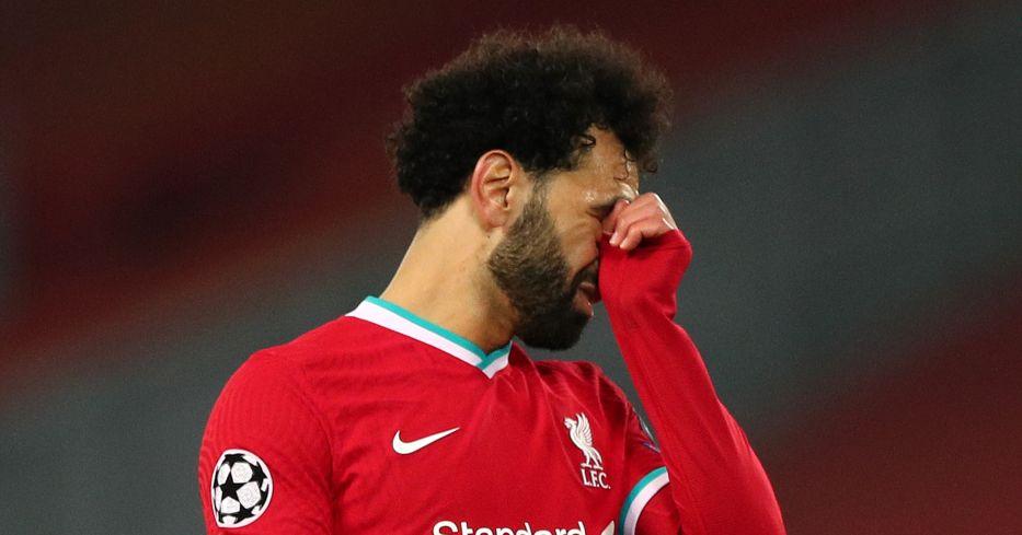 Mo Salah seems dejected