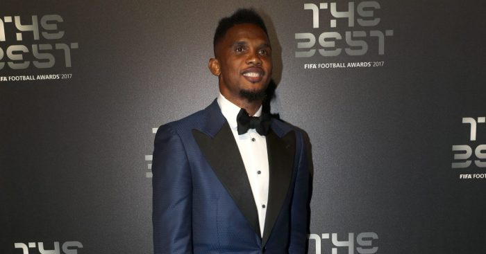 Samuel Eto'o during the Best FIFA Football Awards 2017 at the Palladium Theatre, London.