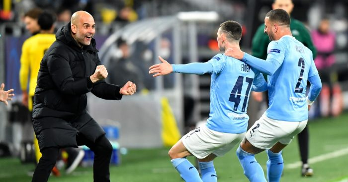 Phil Foden Pep Guardiola Man City F365