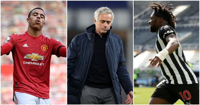 Mason Greenwood, Jose Mourinho and Allan Saint-Maximin