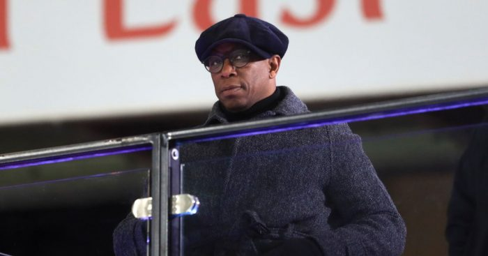Ian Wright watches Arsenal
