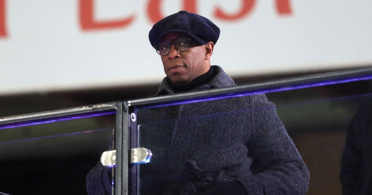 Ian Wright watches Arsenal