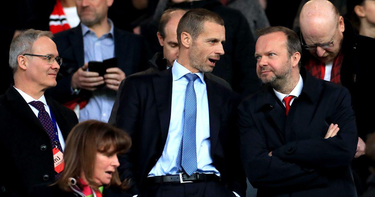Aleksander Ceferin Ed Woodward Manchester United