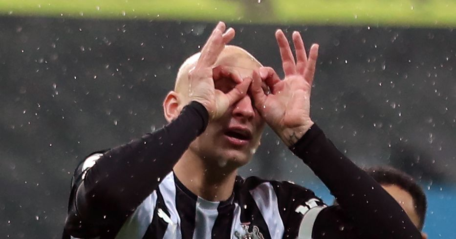 Jonjo Shelvey celebrates