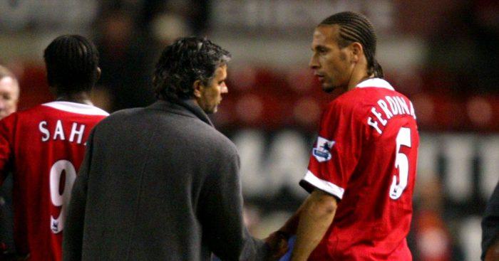 Jose Mourinho Rio Ferdinand