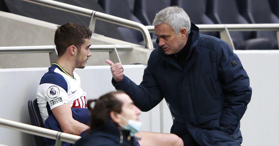 Harry Winks and Jose Mourinho