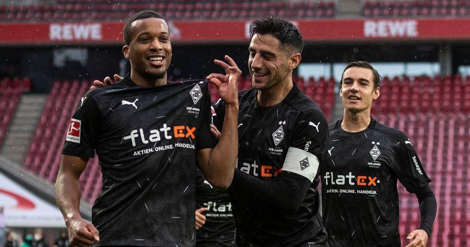 Alassane Plea celebrates scoring