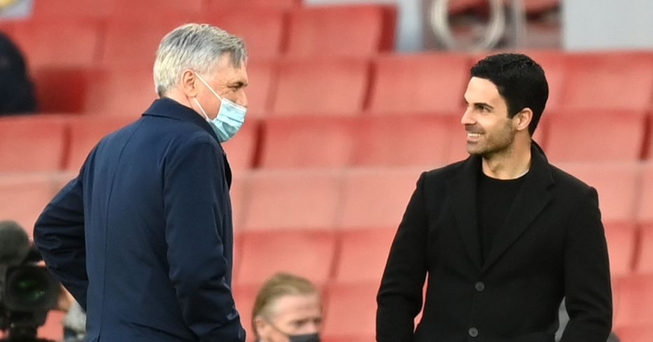 Carlo Ancelotti and Mikel Arteta