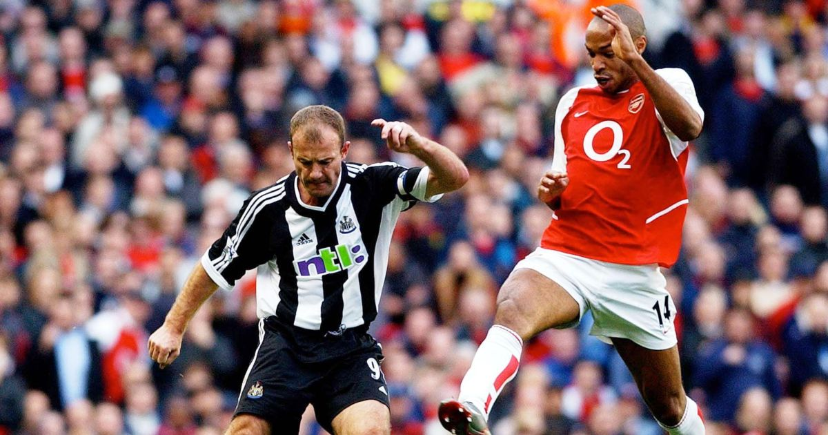 Alan Shearer Newcastle Thierry Henry Arsenal Premier League