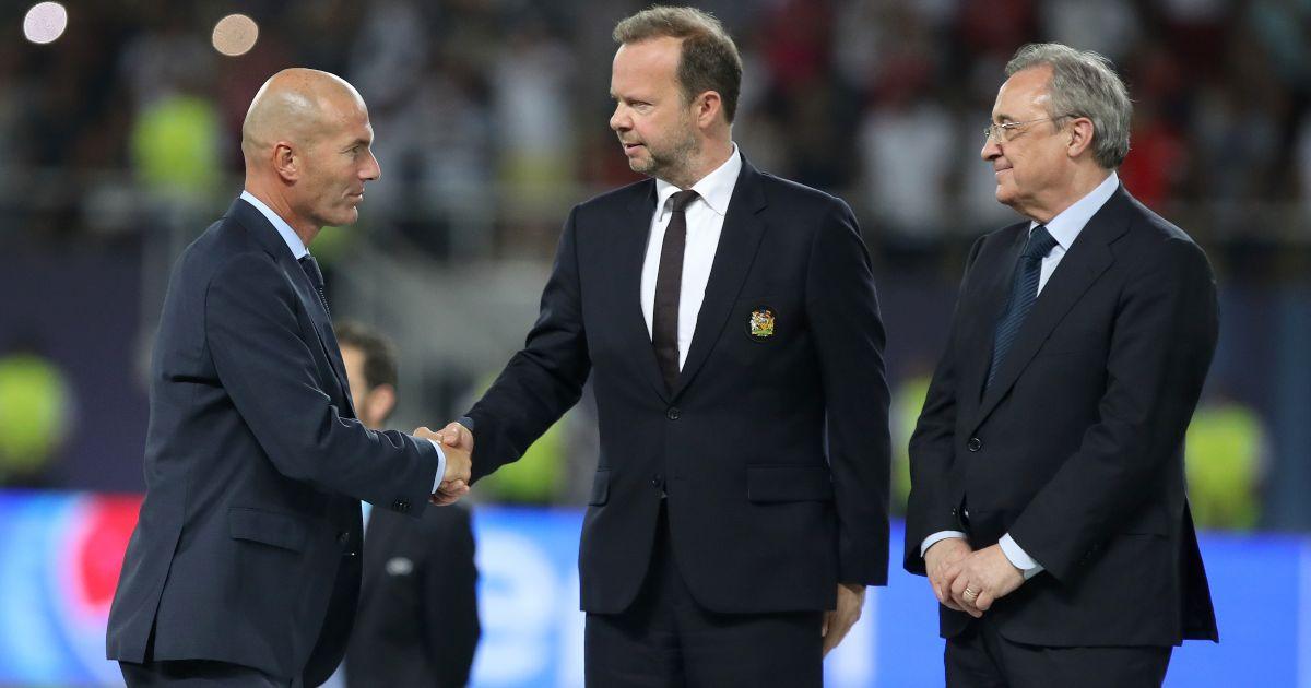 Zinedine Zidane Ed Woodward Florentino Perez Real Madrid