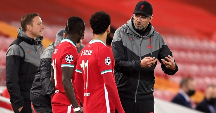 Sadio Mane Mo Salah Jurgen Klopp Liverpool