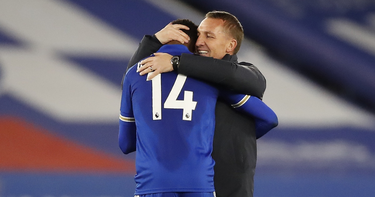 Brendan Rodgers Kelechi Iheanacho Leicester F365