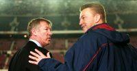 Louis van Gaal and Manchester United boss Alex Ferguson