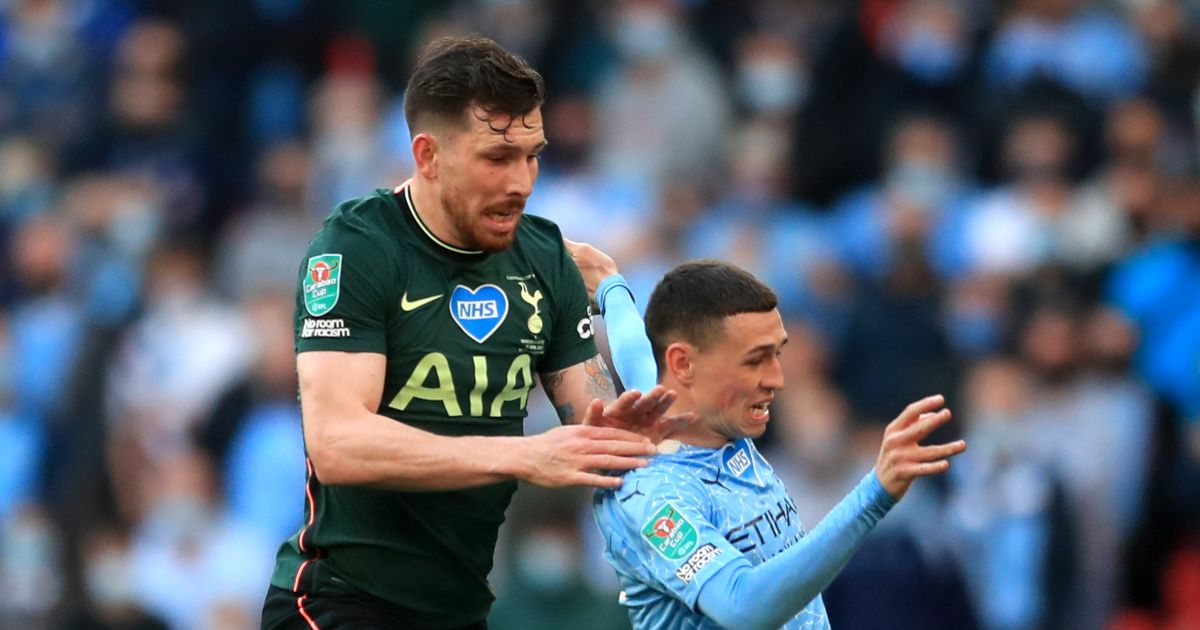 Pierre-Emile Hojbjerg and Phil Foden