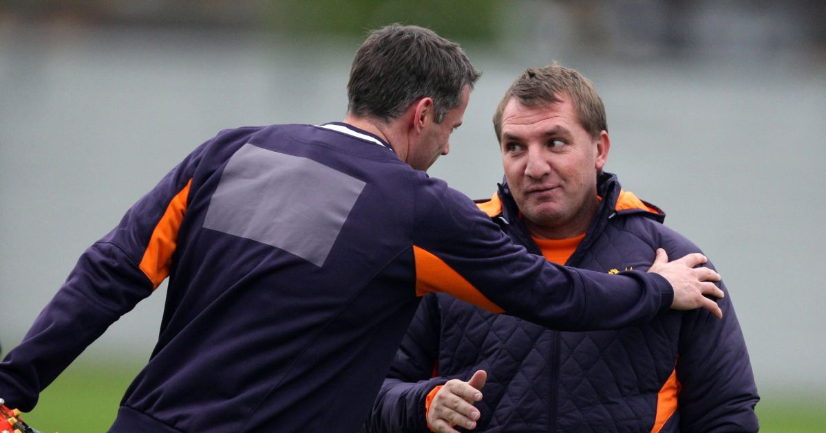 Jamie Carragher and Brendan Rodgers