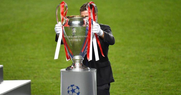 Champions League final trophy UEFA