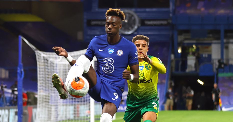Tammy Abraham and Max Aarons