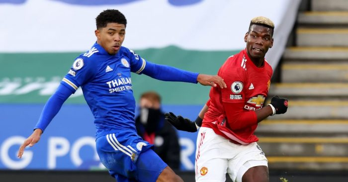 Leicester's Wesley Fofana and Paul Pogba