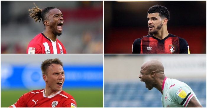 Ivan Toney, Dominic Solanke, Cauley Woodrow and Andre Ayew