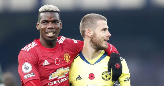Paul Pogba David de Gea Man Utd