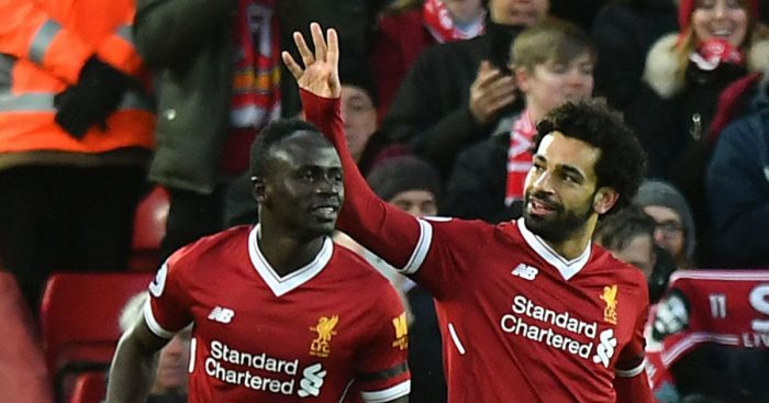 Sadio Mane and Mo Salah