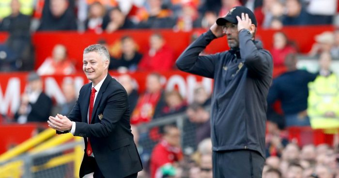 Ole Gunnar Solskjaer and Jurgen Klopp Man United Liverpool
