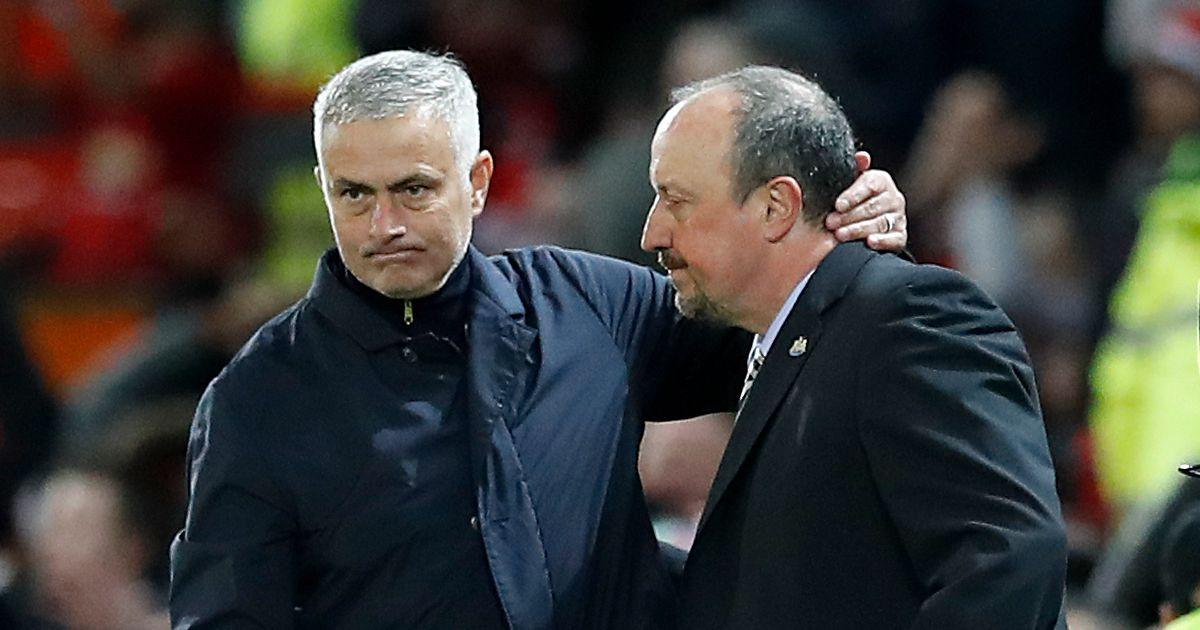Jose Mourinho and Rafael Benitez