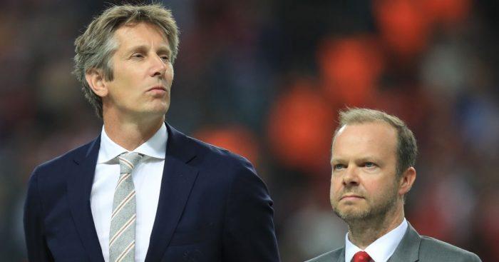 Edwin van der Sar Ed Woodward Man Utd