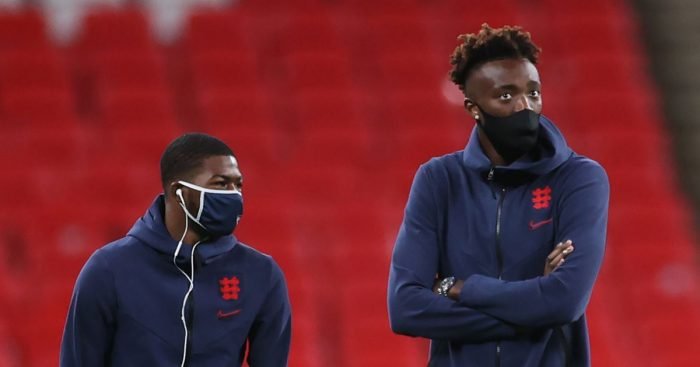 Ainsley Maitland-Niles and Tammy Abraham