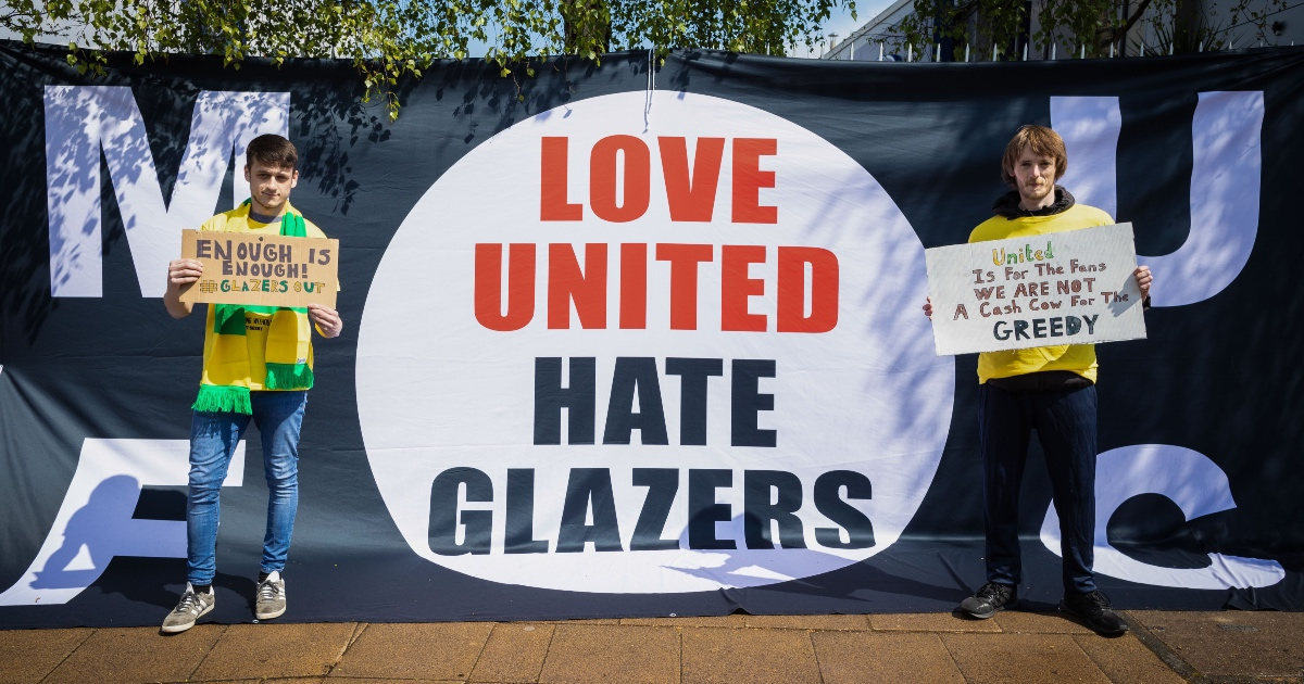 Glazer protests Man Utd F365