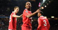 Manchester United's Anderson celebrates
