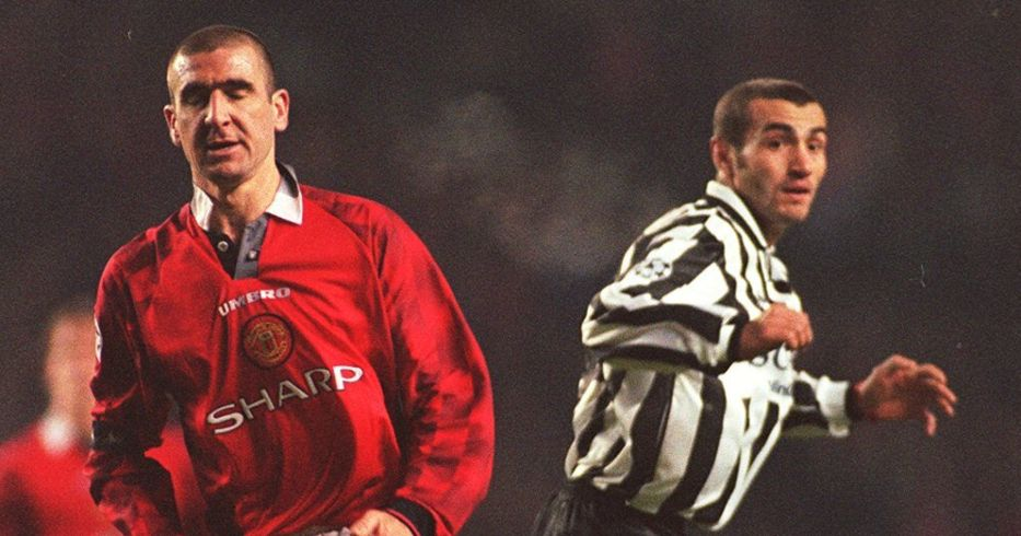 Eric Cantona and Paolo Montero