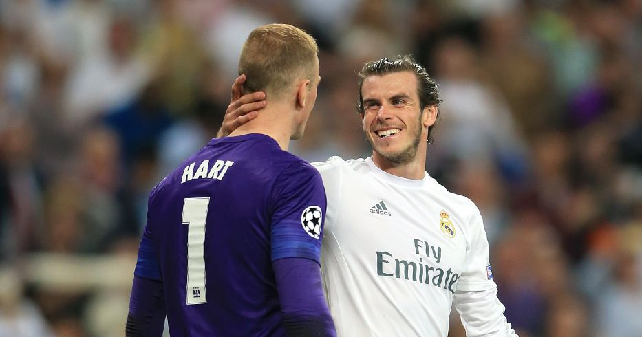 Joe Hart and Gareth Bale