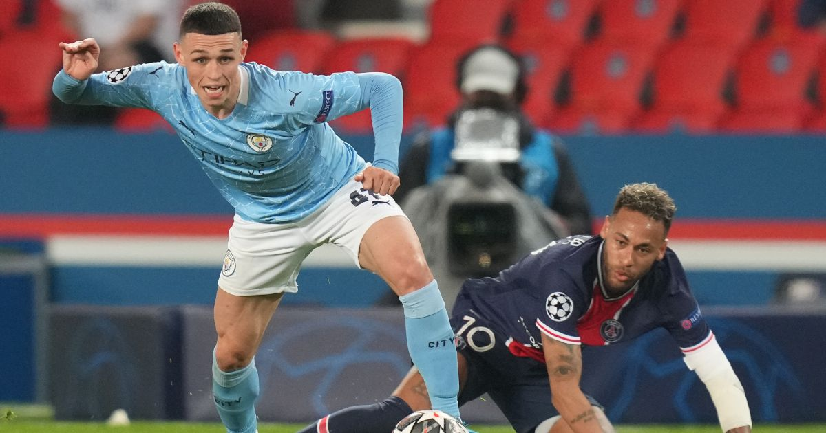 Phil Foden Manchester City PSG