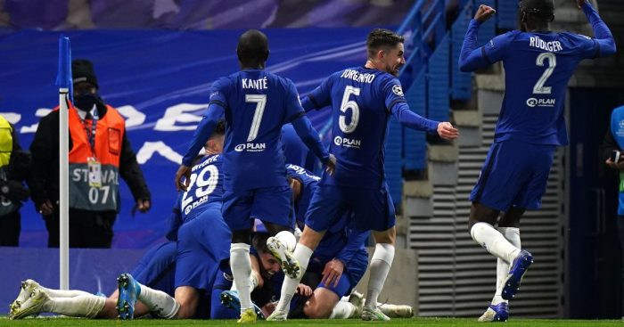 Chelsea celebrate against Real Madrid