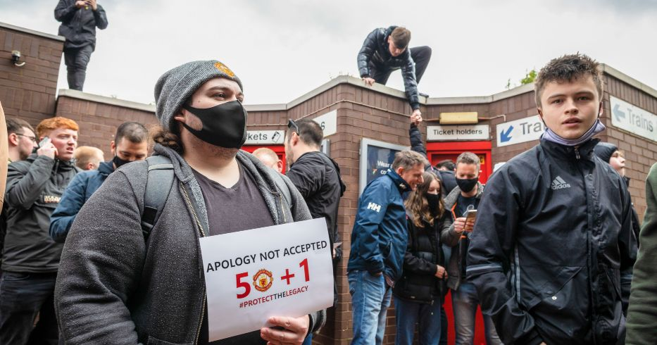 Man Utd fan protests