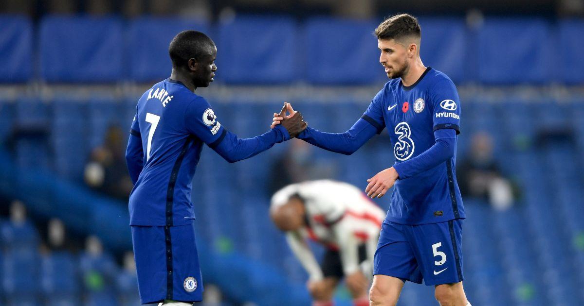 Chelsea pair N'Golo Kante and Jorginho