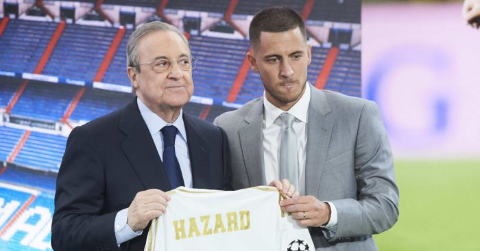 Florentino Perez and Eden Hazard