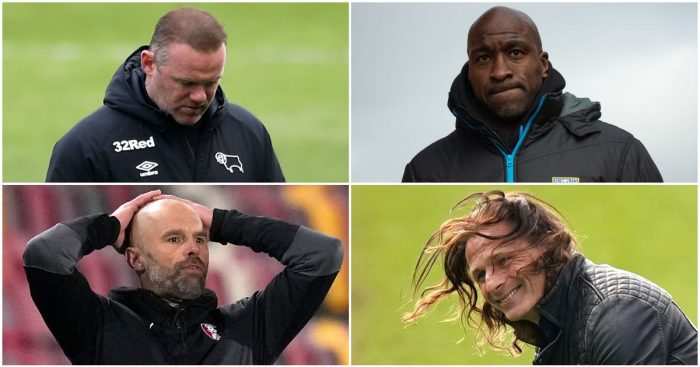 Wayne Rooney, Darren Moore, Paul Warne and Gareth Ainsworth