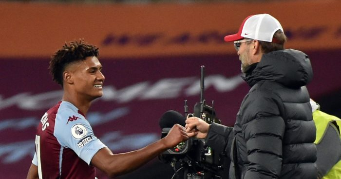 Ollie Watkins and Jurgen Klopp