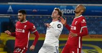 Patrick Bamford reacts against Liverpool