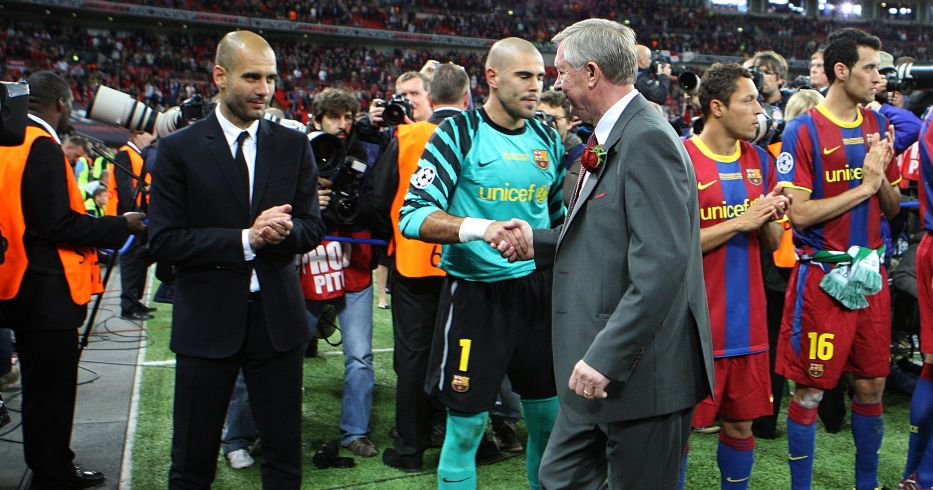 Pep Guardiola Barcelona Alex Ferguson Man Utd
