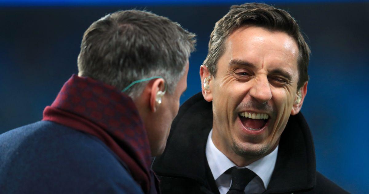 Gary Neville Jamie Carragher Liverpool Man Utd